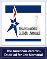 The American Veterans Disabled for Life Memorial Logo