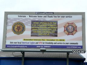 2010 10 30-01 VFW-AmLegion-BillBoard-Dedication-Castro-Valley