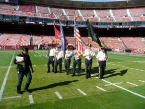 2010 11 14-03 VFW-Honor-Guard-49ersGame