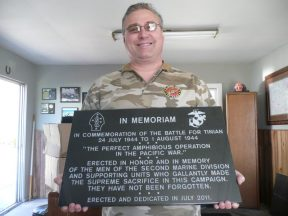 2011 07 01-01 Michael L. Emerson his donated Tinian Plaque