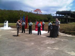 2011 07 01-02 New USMC 2ndMARDIV Plaque Ceremony on Tinian