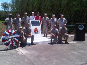 2011 07 01-03 Marines with the new 2ndMARDIV Plaque