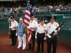 2011 08 20-01 VFW Honor Guard at A_s VFW Game
