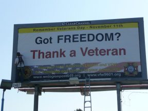 2011 10 25-01 VFW _ AmLegion Billboard Installation