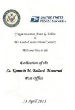 2013 04 13a-Army Lt. Ken Ballard Memorial Post Office Program