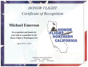 2013 04 19a1-Honor Flight NorCal Certificate