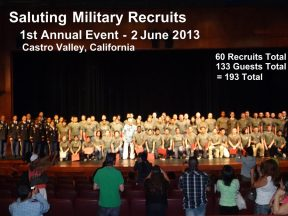 2013 06 02s-The 1st Saluting Military Recruits Event