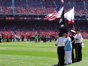 2013 10 13b-VFW Honor Guard-49ers Game