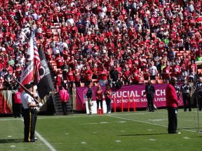 2013 10 13d-VFW Honor Guard-49ers Game