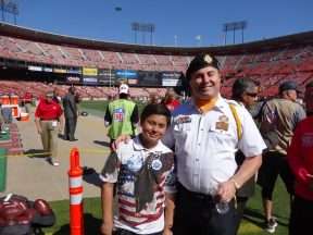 2013 10 13f-VFW Honor Guard-49ers Game-Nick Emerson