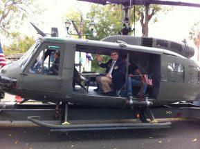2013 11 03c-Pleasanton Veterans Parade-HUEY Helicopter