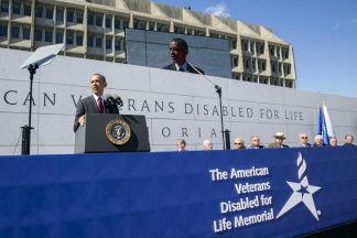 2014 10 05h-Disabled Veterans Memorial Dedication-Prez Obama
