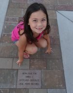 2015-09-19 - Jocelynn and her Brick at the Hayward 911 Memorial