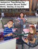 2016-July-23 - The Kids on Papa Michael Day