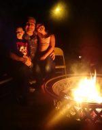 2017-Nov-12 - Bubba, Papa & Jocelynn at Fire Pit