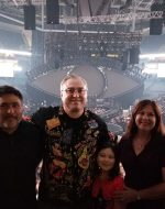 2018-Jan-31 - Domingo, Michael, Jocelyn & Mary at Katy Perry Concert