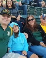 2018-July-21 - A's vs Giants with Jocelynn, Mary and Paul Gravelle