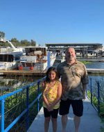 2019-Aug-11 - Jocelynn and Papa Michael at Stockton Marina