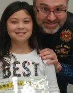 2019-Feb-6 - Jocelynn getting John Muir School Award