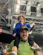 2019-Oct-12 - Ej & Papa at Heat hockey game