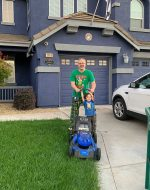 2019-Sept-20 - Cutting the grass with EJ
