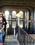 2020-Jan - At Hearst Castle, CA with EJ, Jocelynn & Mary