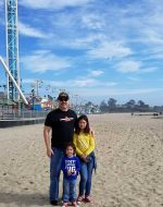 2020-Jan - At Santa Cruz, CA with EJ & Jocelynn