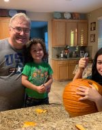 2020-Sept-18 - Carving Pumpkin with EJ & Jocelynn