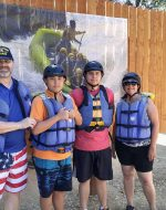 16-July-2016 - Papa, Tyler, Nick & Mary White Water Rafting