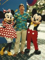 1991-08a-Michael with Minnie & Mickey Mouse in Florida
