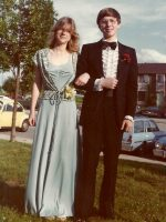 1979-05a-Michael age 16 and his Senior Prom date Cheryl-Lynn Folks, Wheaton, Maryland
