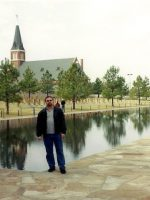 2003-03a-Michael at the Oklahoma City Bomb Site-Was the Murrah Federal Building