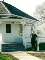 2003-04-Michael at John Wayne's Birthplace in Madison County, Iowa