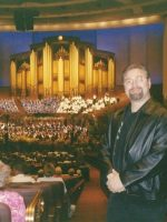 2003-07a-Michael  listening to the Mormon Tabernacle Choir in Salt Lake City, Utah