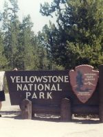 2003-07c-Michael at western entrance to Yellowstone Park, Wyoming