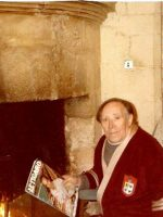 1985-03-Michael's Maternal Grandpa in France wearing the robe Michael gave him