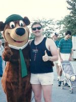 1991-08b-Michael & Yogi Bear in Florida