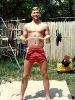 1986-04-Michael working out in Maryland