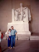 1986-04-Mom and Michael in Washington D.C.