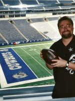2003-10b-Michael on a tour of Dallas Cowboys Stadium in Dallas, Texas