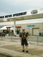2004-05a-Michael at the 88th INDY 500 in Indianapolis, Indiana
