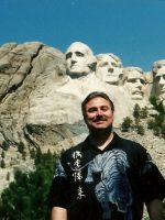 2004-06a-Michael at Mount Rushmore in South Dakota