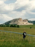 2004-06b-Michael at Crazy Horse Memorial near Custer, South Dakota