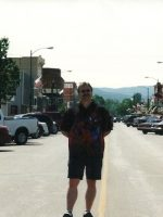 2004-06e-Michael at Motorcycle Rally town Sturgis, South Dakota