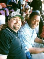 2003-02-Michael & Marcus Allen (Oakland Raiders) at the Pro Bowl