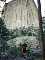 2004-06f-Michael at Devil's Tower National Monument in South-Eastern Wyoming