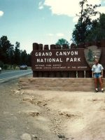 1986-05f-Michael at the Grand Canyon near Flagstaff, Arizona