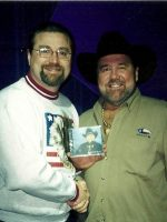 2003-03e-Michael and Singer Johnny Lee in Branson, Missouri