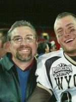 2004-12aa-Michael & Winning QB Corey Bremle at the College Las Vegas Bowl