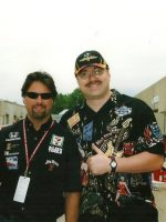 2004-05-Michael & Driver Michael Andretti at the 88th INDY 500 in Indianapolis, Indiana